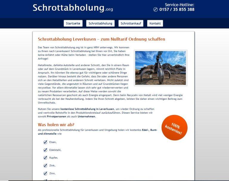 Die Schrottabholung in Leverkusen holt Ihren Altmetallschrott ab