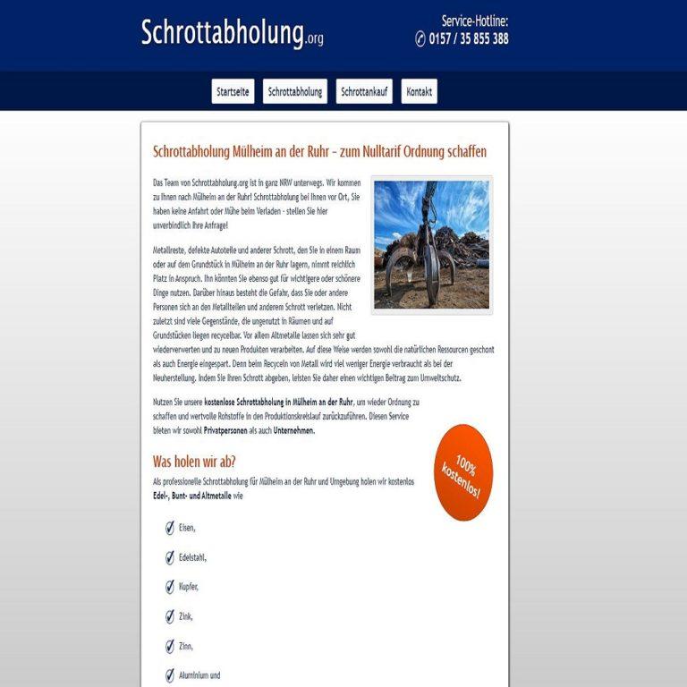Schrottabholung Mülheim an der Ruhr – fachgerechte Schrottentsorgung im Ruhrgebiet