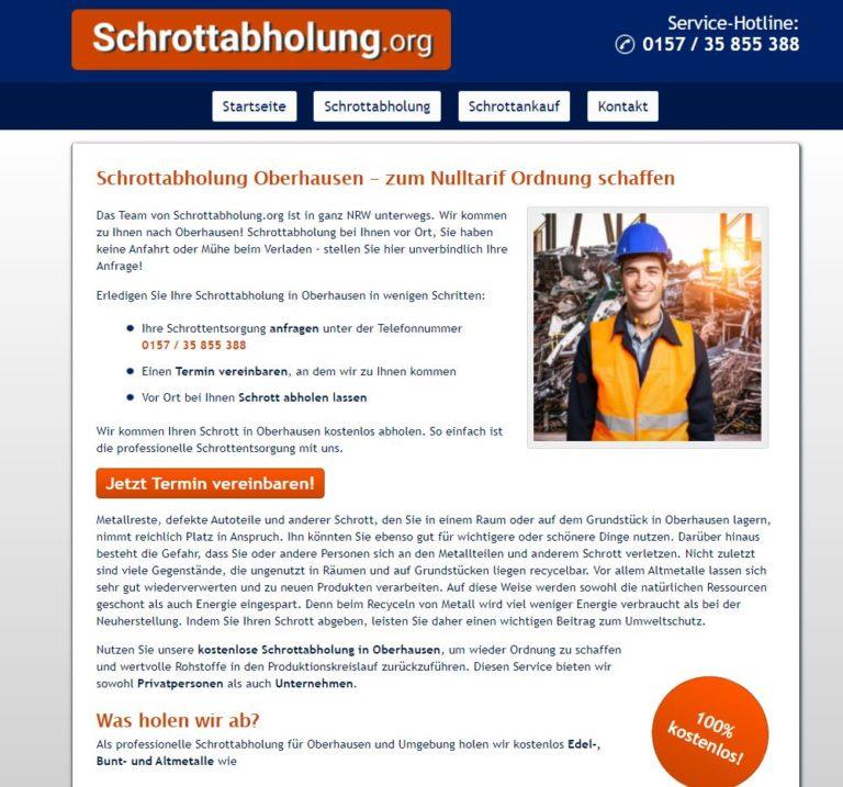 Schrottabholung Oberhausen – fachgerechte Schrottentsorgung im Ruhrgebiet
