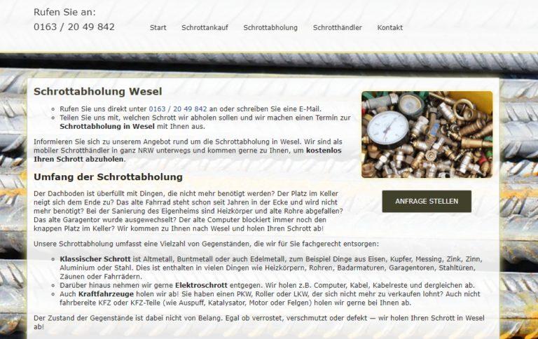 Die Schrottabholung Wesel Kauft Schrott Aller Art Und Holt Ihn Direkt Beim Kunden Ab