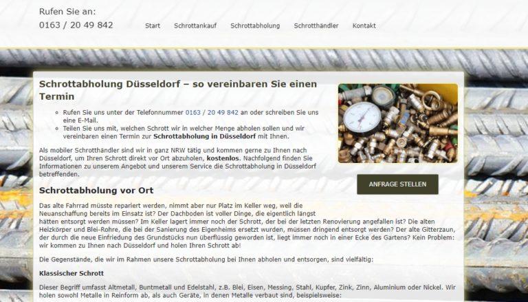 Schrottabholung Düsseldorf – Der Demontierte Schrott Wird Von Uns Fachgerecht Dem Verwertungs-Und Recyclingsystem