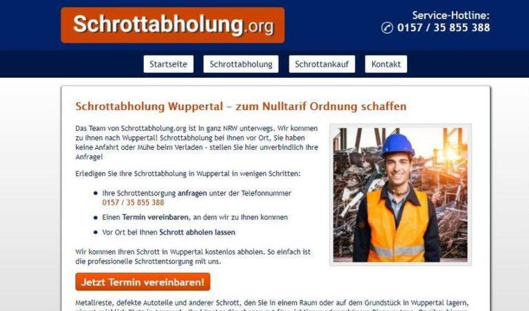 Schrottabholung Wuppertal ist der Experte