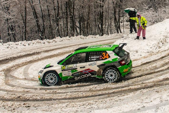 Rallye Monte Carlo: SKODA FABIA Rally2 evo Fahrer Andreas Mikkelsen gehört zu Favoriten auf WRC2-Sieg
