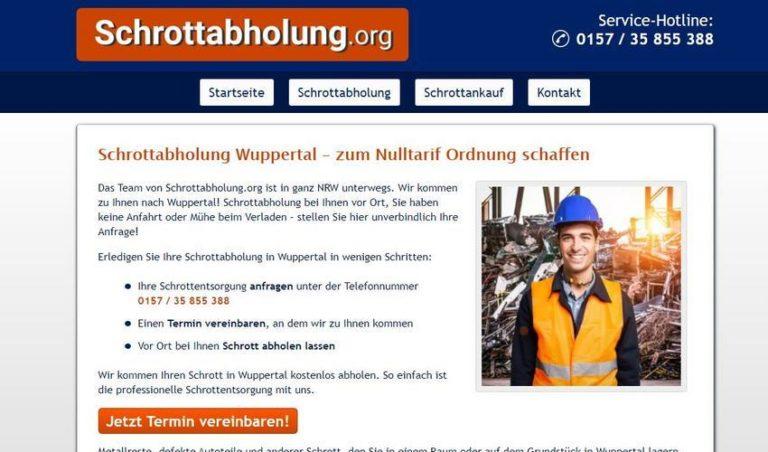 Schrott entsorgen in Wuppertal – Abholen ist am einfachsten