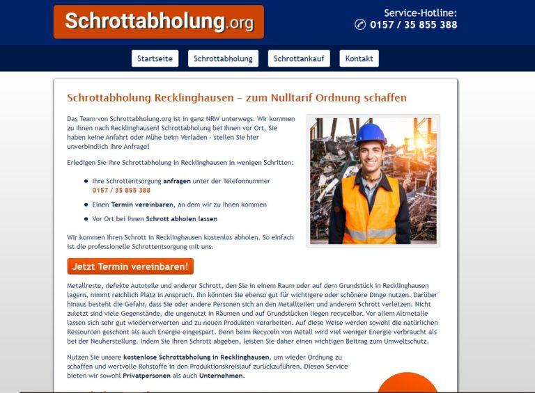 Schrottabholung Recklinghausen – Direkt ohne Zwischenhändler