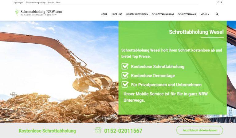 Schrotthandel für Wesel und Umgebung durch Schrottabholung-NRW.com