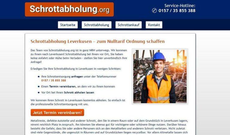 Schrottabholung Leverkusen – fair und transparent