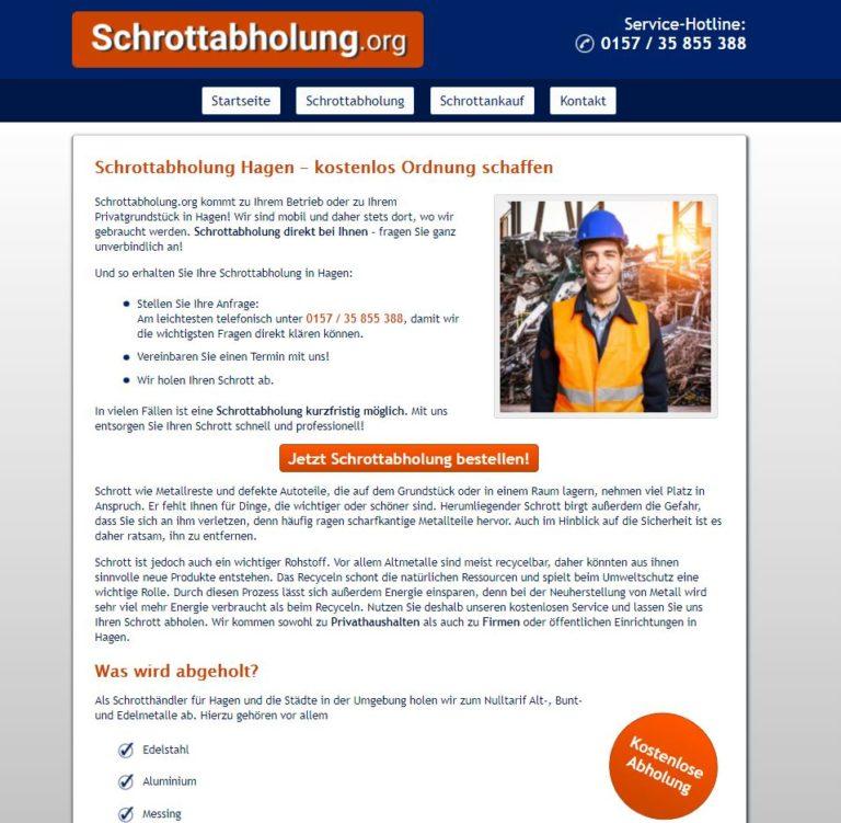 Schrottabholung Hagen – Direkt ohne Zwischenhändler