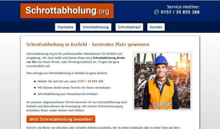 Schrottabholung Krefeld – zu jeder Zeit möglich
