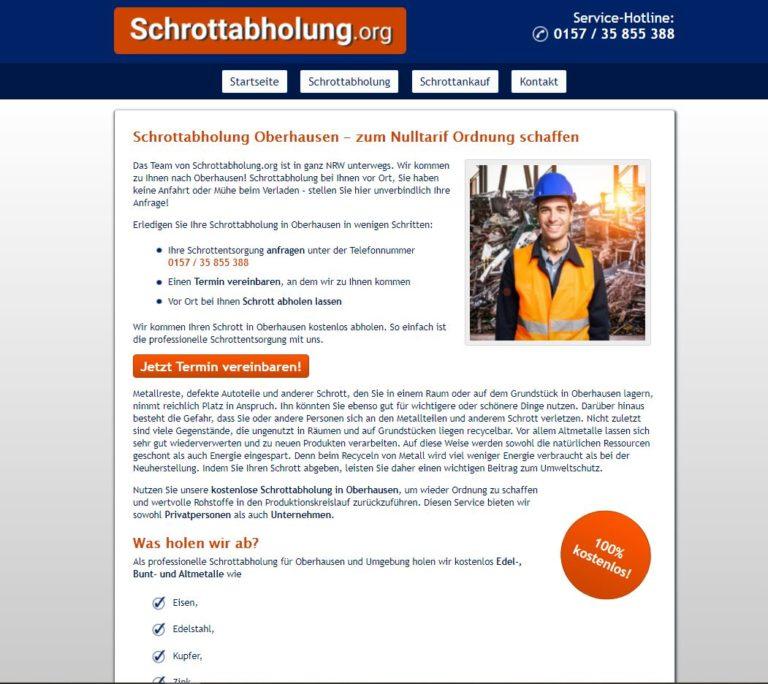 Schrottabholung Oberhausen mit bestem Service