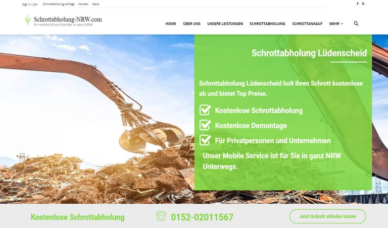 Schrottabholung Lüdenscheid bietet ihren Kunden kostenlose und schneller Service
