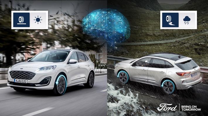 Ford Kuga Voll-Hybrid: Künstliche Intelligenz des AWD-Systems hilft auf rutschiger Fahrbahn und spart Kraftstoff