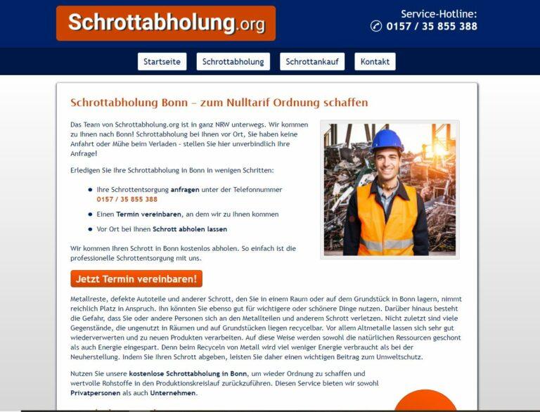Die Schrottabholung Bonn ist tätig in einem der ältesten Berufe der Menschheit