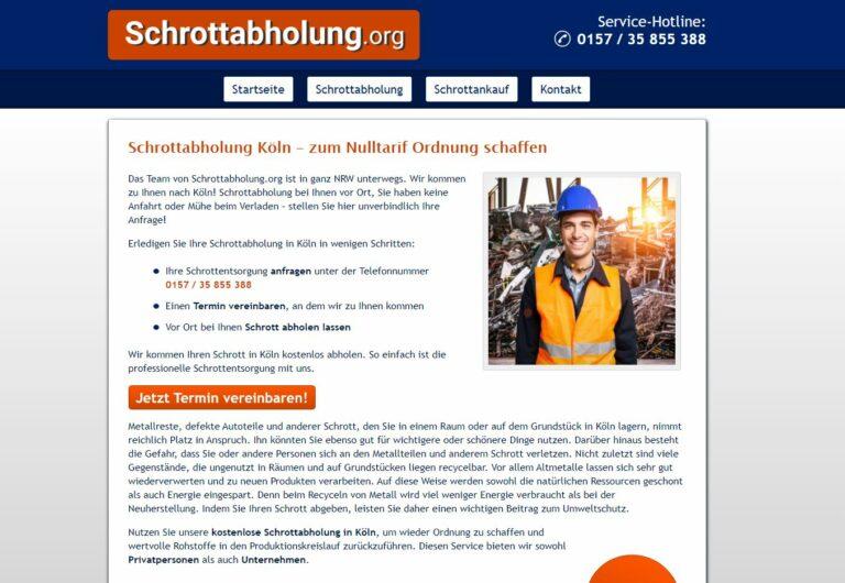 Schrottabholung Köln: Mobile Schrotthändler fahren zum Kunden