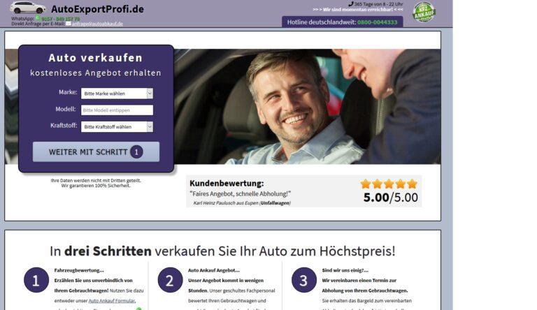 KFZ Ankauf Export: Auto ohne Garantie und Gewährleistung verkaufen