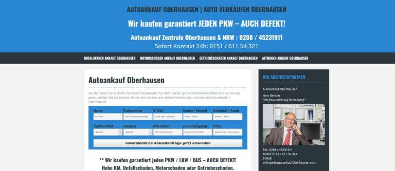 Auto verkaufen in Oberhausen – Autoankauf leicht gemacht