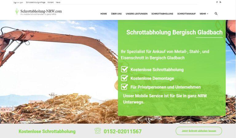 Unser Schrottabholung in Bergisch Gladbach holt ihren Schrott zu Top-Preisen ab