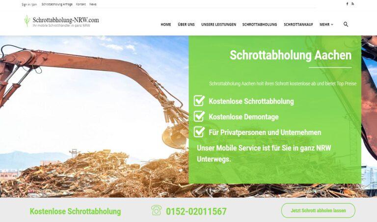 Schrott-Recycling & Schrottabholung in Aachen, Rufen Sie uns einfach an