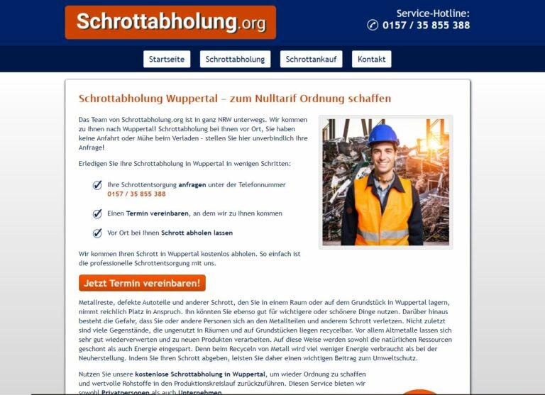 Der schnellste Schrottabholung in Wuppertal und Nordrhein-Westfalen