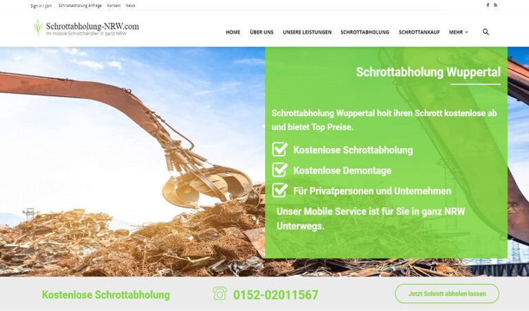 Die kostenlose Schrottabholung Wuppertal: ein wichtiger Service bei jeder Haushaltsauflösung