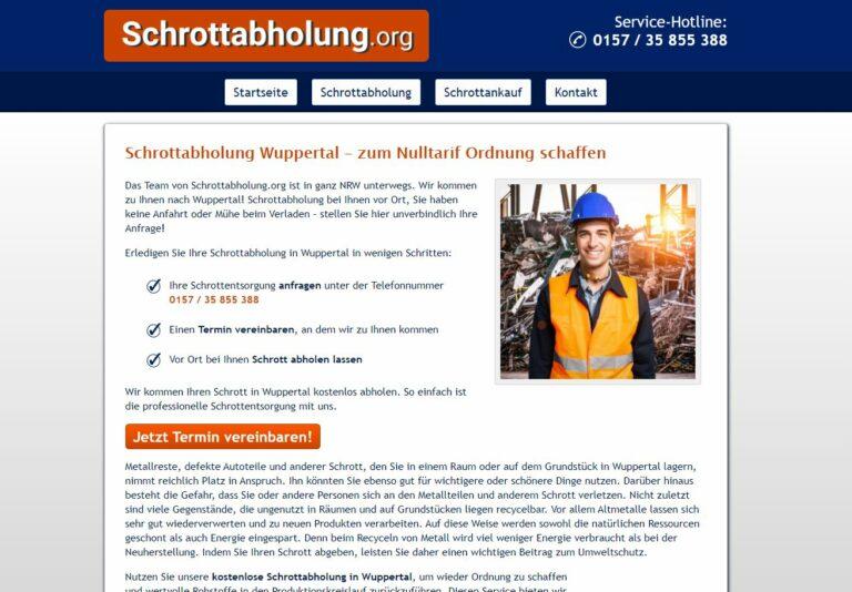 Sie möchten Schrott kostenlos abholen lassen: Die Schrottabholung in Wuppertal ist der Entsorgungs-Profi in Ihrer Nähe