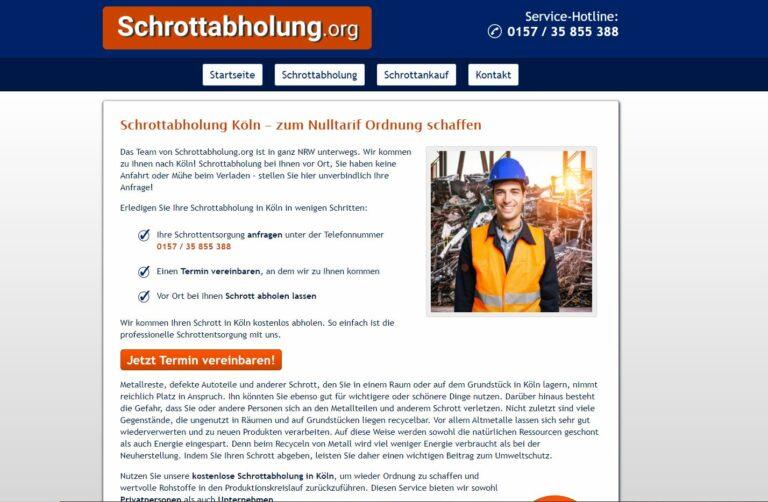 Schrottabholung in Köln: einfach & fair !