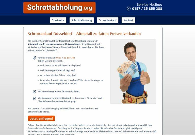 Schrottankauf in Düsseldorf: Faire Preise, Bezahlung sofort und in bar