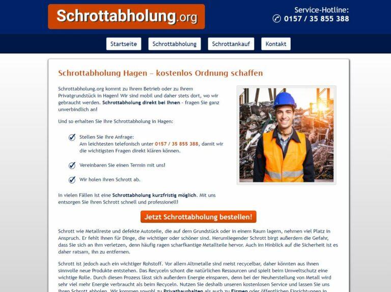 Große Mengen Schrott über den Schrottabholung in Hagen entsorgen