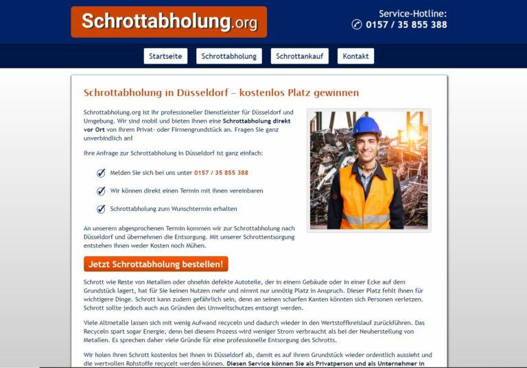 Schrottabholung in Düsseldorf: Privathaushalte und Firmenkunden entsorgen Schrott kostenlos