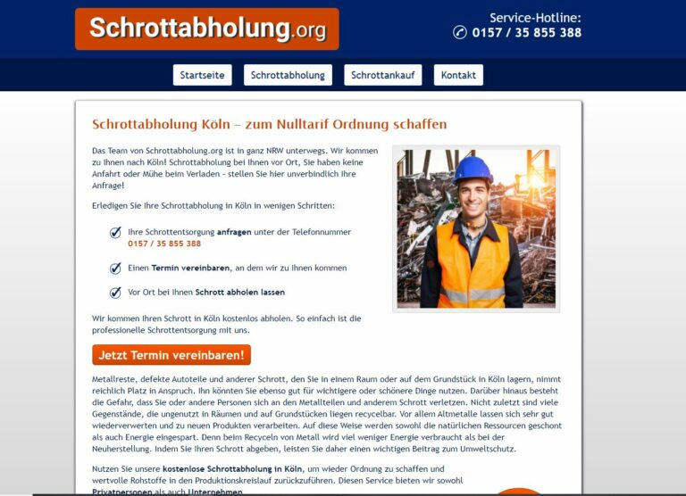 Fachgerechte Entsorgung und das Recycling eisen und Metall in Köln