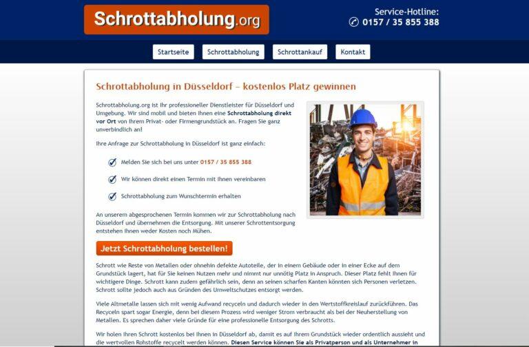 Schrottabholung in Düsseldorf: kompetent, schnell und kundenorientiert