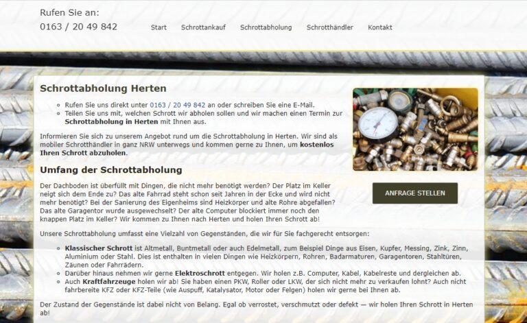 Schrottabholung Herten – Schrott ordnungsgemäß entsorgen – Schrott-Ankauf-NRW