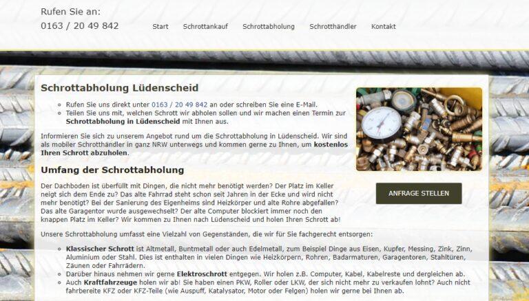 kostenlosen Schrott-Abholung kommen in Lüdenscheid