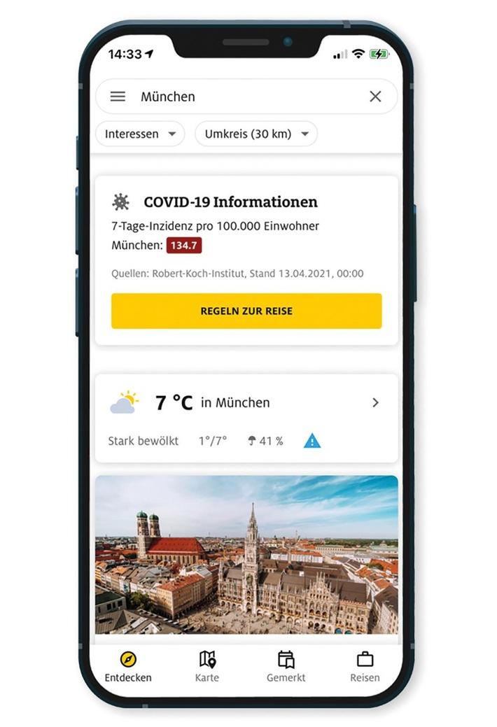Urlaubsplanung – aber sicher: ADAC Trips-App jetzt mit Corona-Informationen Landkreisgenau und tagesaktuell erfahren, welche Regelungen gelten